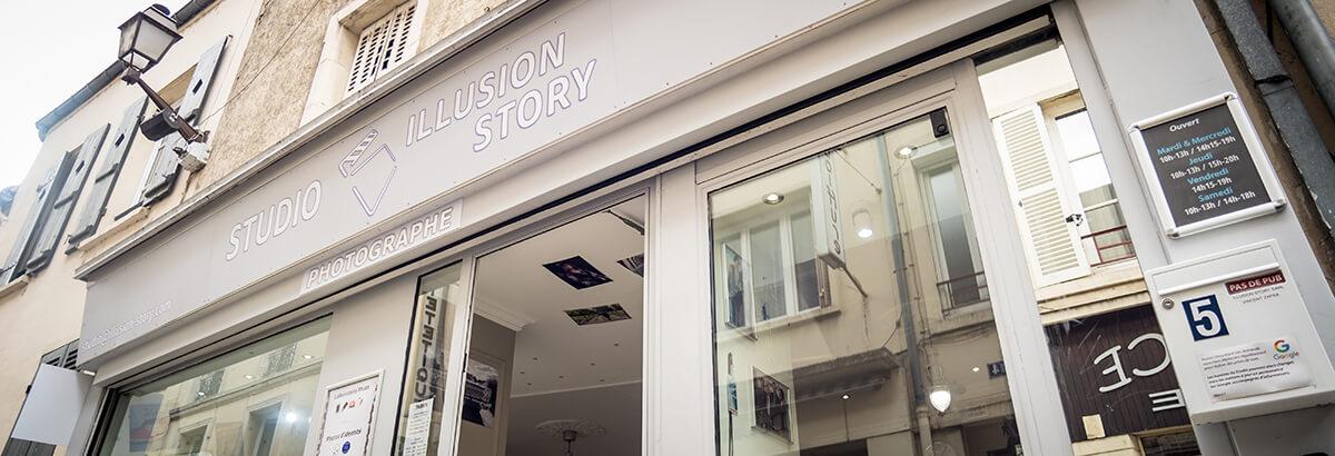 Devanture Studio Illusion Story rue du Vieux Pilori